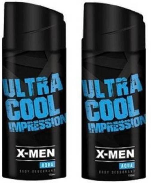 X-Men Body Deodorant Deodorant Spray - For Men (150 ml, Pack of 2) Deodorant Spray  -  For Men & Women