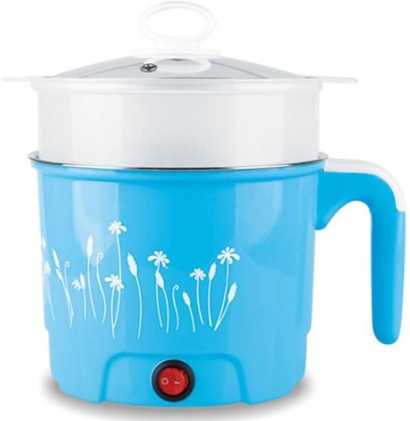 Adonai POT1.5BLUE2 Rice Cooker, Food Steamer, Egg Boiler, Travel Cooker