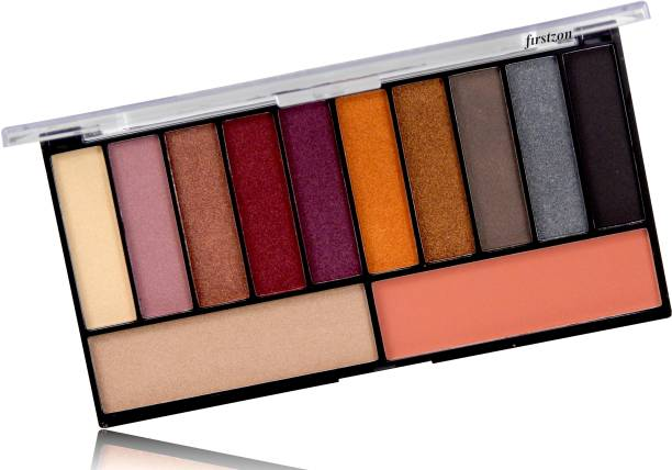 FIRSTZON 10 Color eyeshadow & 2 highlighter matte and shimmer combo palette 36.6 g