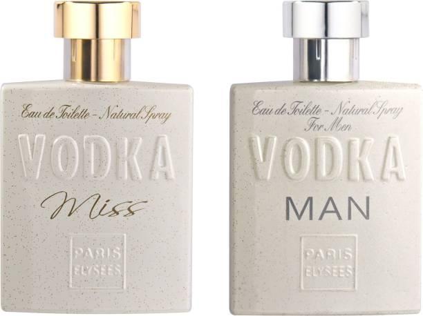 Paris Elysees Vodka Man & Vodka Miss Perfume Couple Combo 100ML each Eau de Toilette  -  100 ml