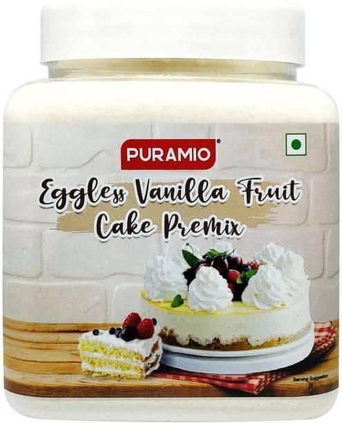 PURAMIO Eggless Vanilla Fruit Cake Premix 600 g