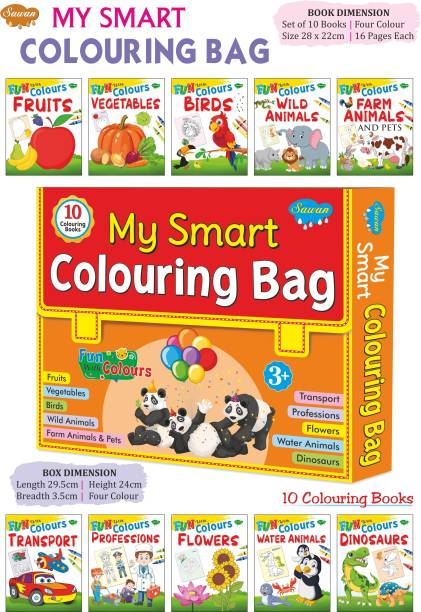 My First Colouring Set | Colouring Books For Kids | Educational Colouring Bag Of 10 Books