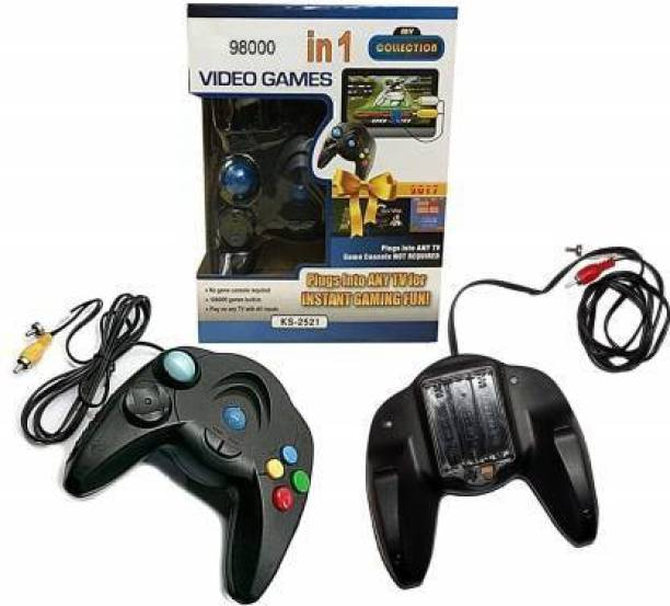 ZONCARE COLLECTION 98000 in 1 Video Game Pad Built in TV Single Remote Shooting  Joystick