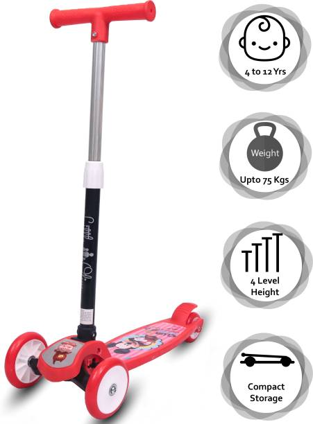 Little Olive Scooter For Kids 3 Years Above 4 Level Height PU Wheels with Brake