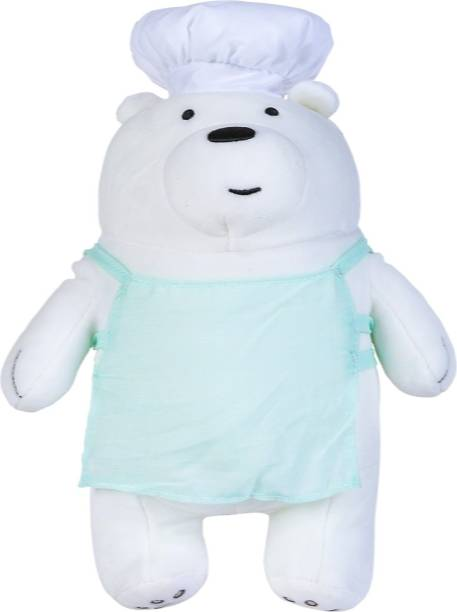 MINISO We Bare Bears Plush- Chef Ice Bear  - 30 cm