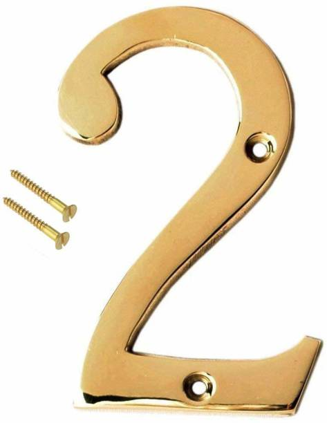 eSplanade Brass Number Two Sign