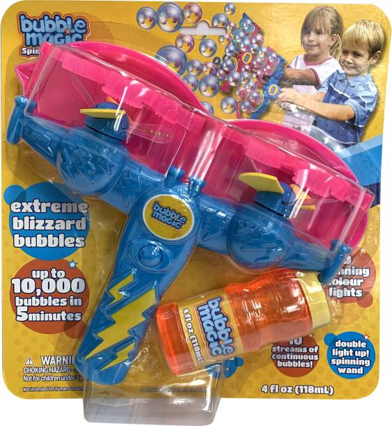 bubble magic Double Light Up Spinning Wand,for Kids 3+ & Above Toy Bubble Maker