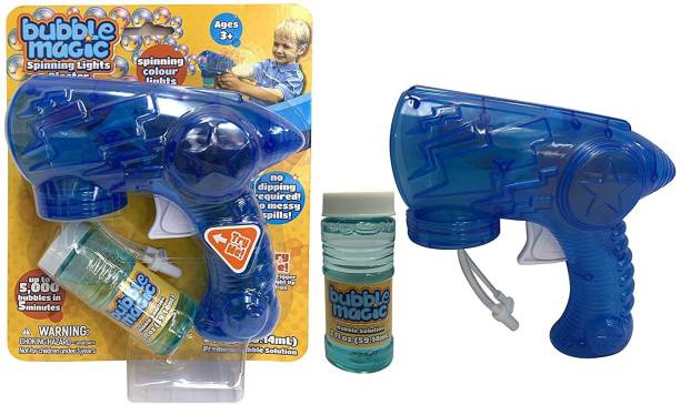 bubble magic Spinning Light Amazing Bubble Blaster,for Kids 3+ & Above Toy Bubble Maker