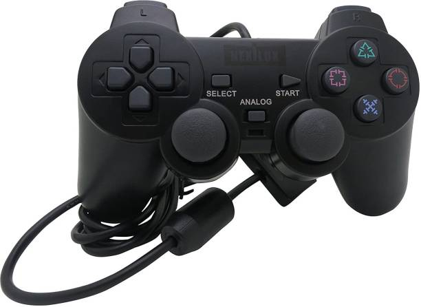 Maxcom Sales MAXCOM PS2 WIRED CONTROLLER FOR COMPITABLE PS2 CONSOLE (BLACK)  Joystick