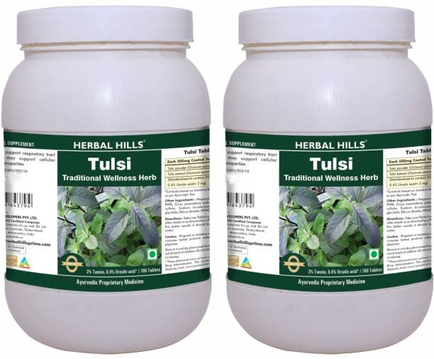 Herbal Hills Tulsi 700 Tablets (Pack of 2)