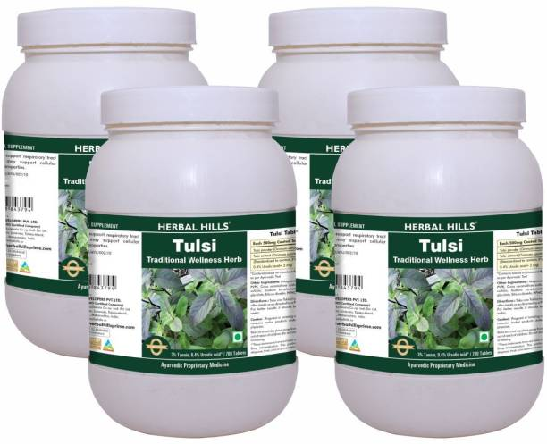 Herbal Hills Tulsi 700 Tablets (Pack of 4)