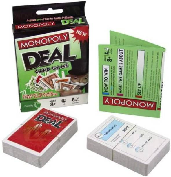 All In One MONOPOLY Deal Card Game for Families and Kids Ages 8 and Up, Fast Gameplay with Cards Party & Fun Games Board Game