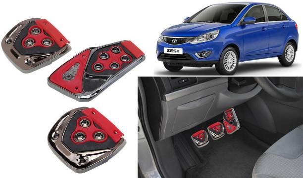 Auto Kite GP9 - 3 Pcs Red Non-Slip Manual Car Pedals kit Pad Covers Set Car Pedal