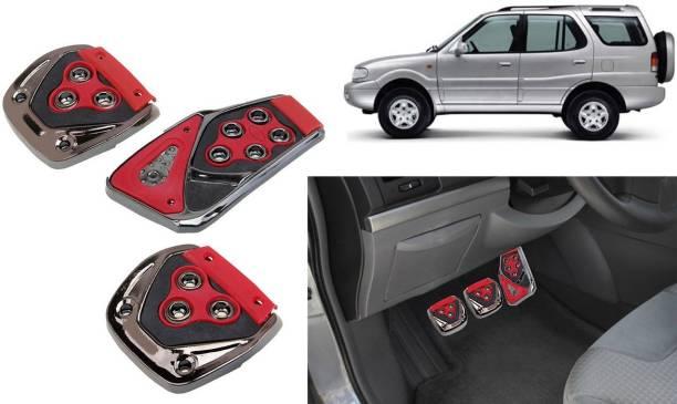 Auto Kite GP2 - 3 Pcs Red Non-Slip Manual Car Pedals kit Pad Covers Set Car Pedal
