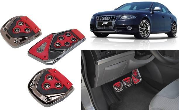 Selifaur 3 Pcs Red Non-Slip Manual Car Pedals kit Pad Covers Set for S4 Car Pedal