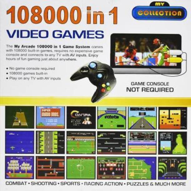 108000 IN 1 Video Game Pad Built In TV Game Direct AV Inputs Shooting, Puzzle, Racing, Action Etc Limited Edition