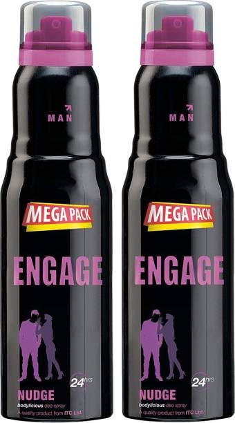 Engage Nudge Deodorant, 220ml Deodorant Spray  -  For Men & Women