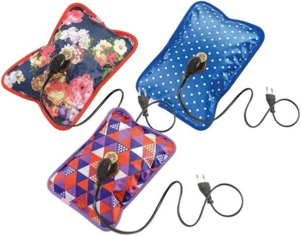 WATERLEAF Famliy Pack of 3 Electric Rechargeable Heating Pad Hot ELECTRICAL 1 L Hot Water Bag
