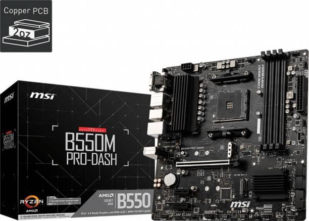 msi B550M PRO-DASH Mini-ATX AM4 Gaming Motherboard