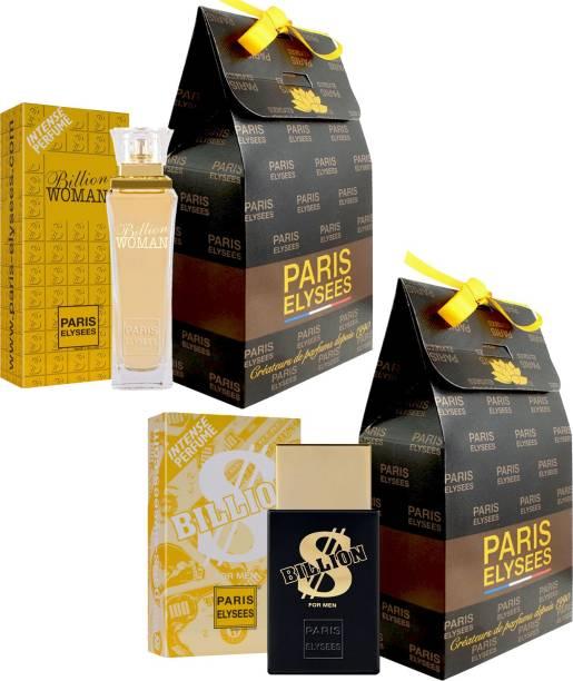 Paris Elysees Billion Women And Billion Dollar Perfume Couple Combo 100ML each Eau de Toilette  -  100 ml