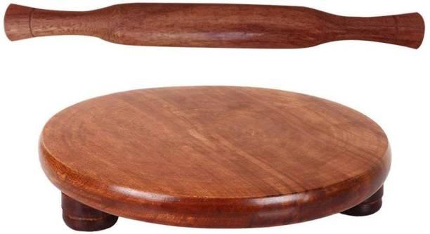 Craftpoint Wooden Chakla Belan Rolling Pin & Board
