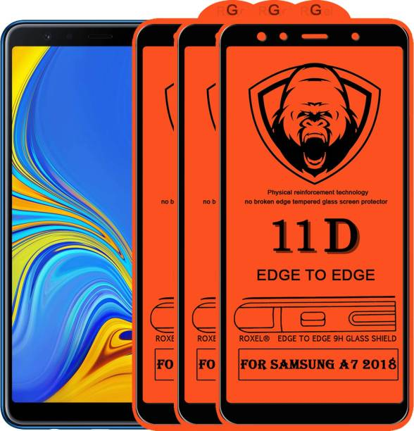 Roxel Edge To Edge Tempered Glass for Samsung Galaxy A7 2018 Edition