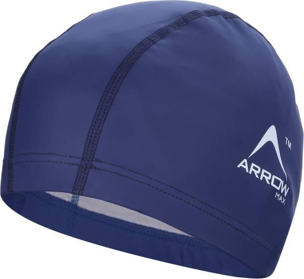 ArrowMax waterproof PU fabric skin friendly easy comfort unisex Swimming Cap