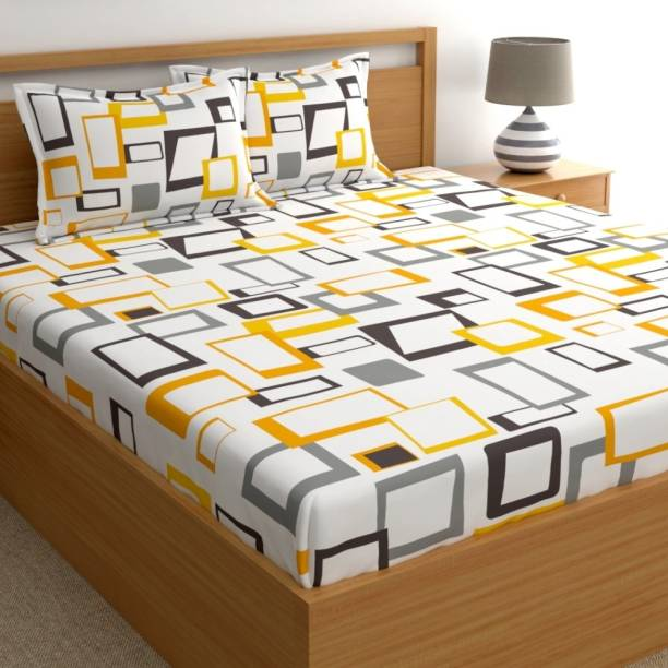 Home Ecstasy 140 TC Cotton Double Geometric Bedsheet