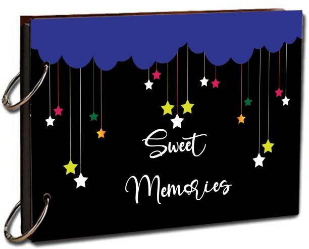 "paper pebbles Scrapbook Sweet Memories Scrap Book for Love & Birthday Memories & Friends Love 20 Black Color Paper Size "" 22x16 "" cm Album Album"