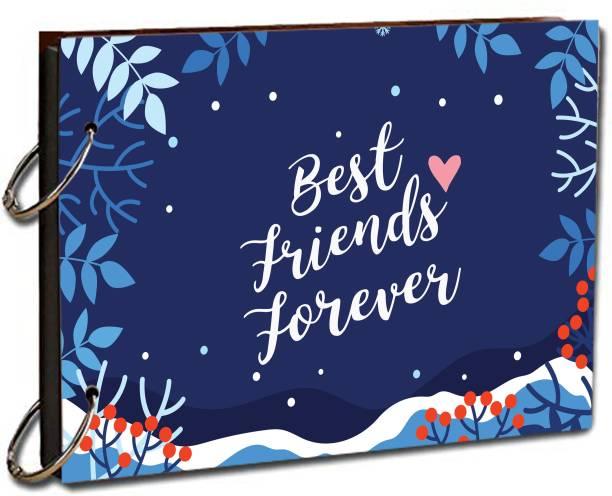 """paper pebbles Scrapbook Best Friends Forever Scrap Book for Love & Moment & Friends Love 20 Black Color Paper Size """" 22x16 """" cm Album Album"""