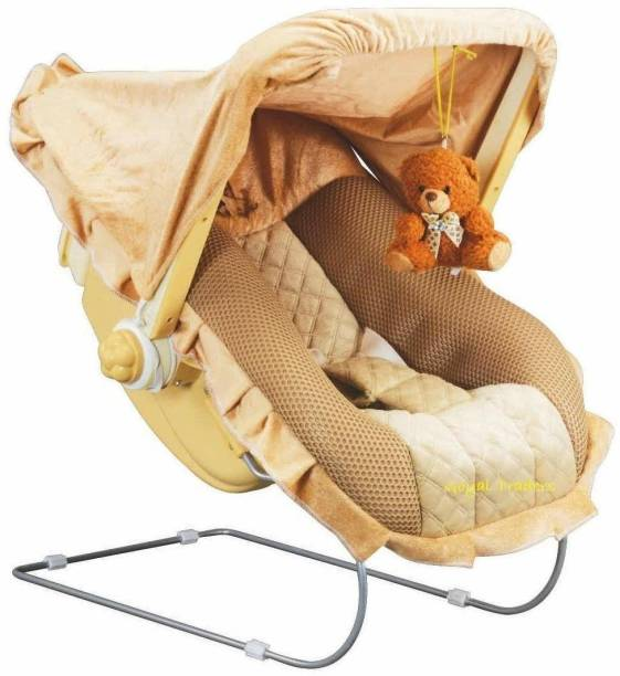 TRISHA MART 12 in 1 Premium Musical Baby Feeding Swing Rocker Carry Cot Cum Bouncer with Mosquito Net and Storage Box Bouncer