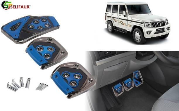 Selifaur B4P170 - 3 Pcs Blue Non-Slip Manual Car Pedals kit Pad Covers Set Car Pedal
