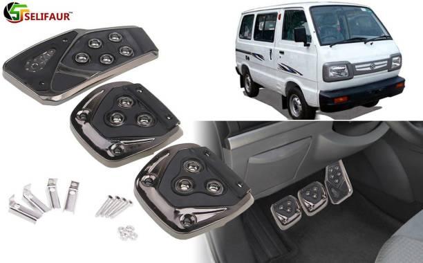 Selifaur B3B221 - 3 Pcs Black Non-Slip Manual Car Pedals kit Pad Covers Set Car Pedal
