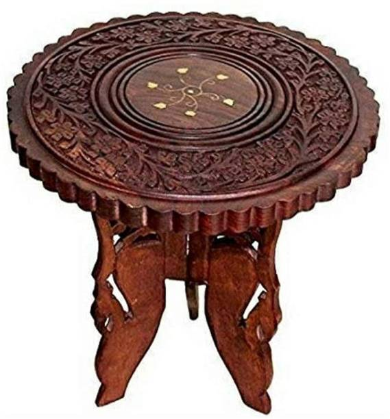 WoodBazaar Wooden Compact Sheesham Wooden Table End Coffee Table for Living Room Solid Wood Coffee Table