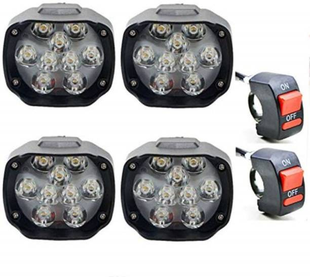 BOOSTY LED Fog Lamp Unit for Universal For Car, Hero, Honda, Yamaha 4 Series