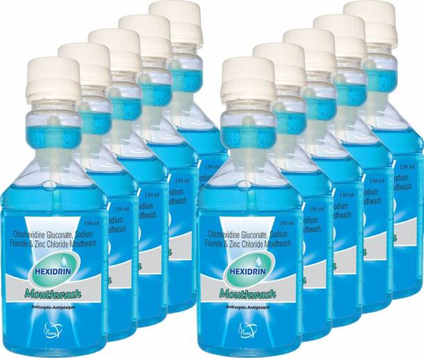 HEXIDRIN MOUTH WASH 150ML(Pack of 10) - COOL MINT