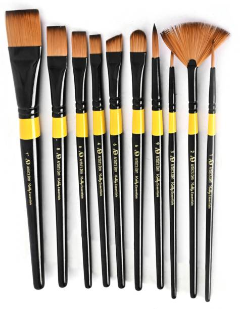 Artist's Den Hobby Essential Set of 10 Mix Brushes