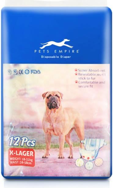 Pets Empire 12 Pet Soft Pet Disposable Female Puppy Dog Diaper (X-Large (Waist : 38-58cm/Weight : 18-32 Kg)) Disposable Dog Diapers