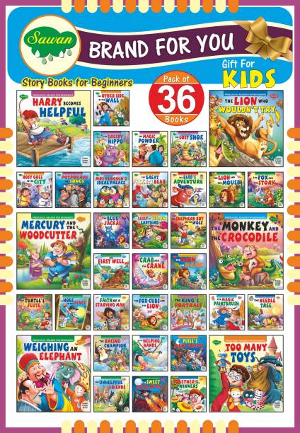 Story Books For Beginners Pack Of 36 Books| Early Reader Series In Large Font