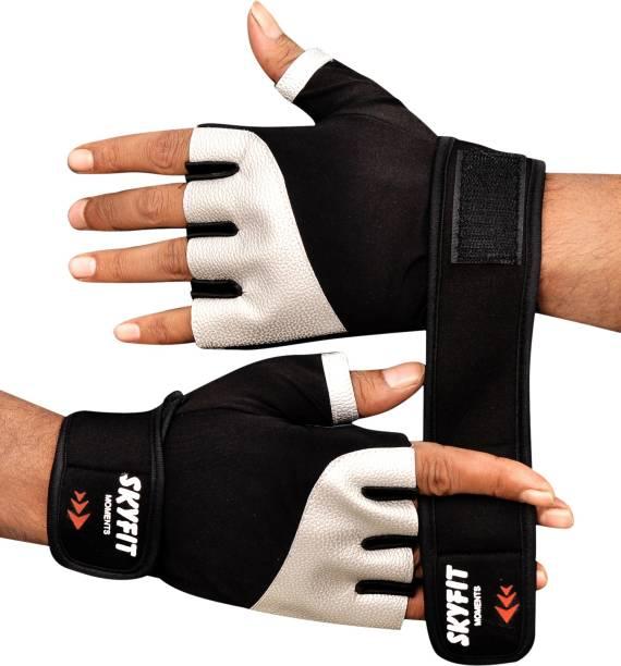 SKYFIT Super Leather padded Wrist support Gym gloves Gym & Fitness Gloves