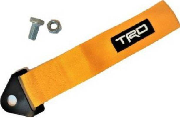 ACCESSOREEZ yellow TRD TOW BELT & STRAP || TRD Premium YELLOW+black Universal Front & Rear Tow Strap/Tow Hook Ribbon Towing Cable 0.15 m Towing Cable (Nylon, 1500 kg Pull Capacity) 0.15 m Towing Cable (Nylon, plastic 1500 kg Pull Capacity) 0.15 m Towing Cable