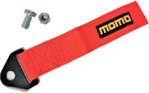 ACCESSOREEZ Red Momo TOW BELT & STRAP || Momo Premium Red+black Universal Front & Rear Tow Strap/Tow Hook Ribbon Towing Cable 0.15 m Towing Cable (Nylon, 1500 kg Pull Capacity) 0.15 m Towing Cable (Nylon, plastic 1500 kg Pull Capacity) 0.15 m Towing Cable