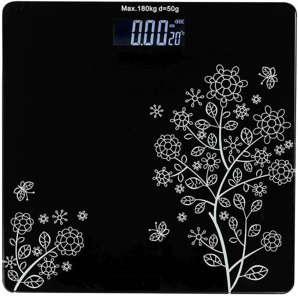 slipslop Personal Bathroom Digital Weight Machine for body weight measurement Weighing Scale (Black) Weighing Scale