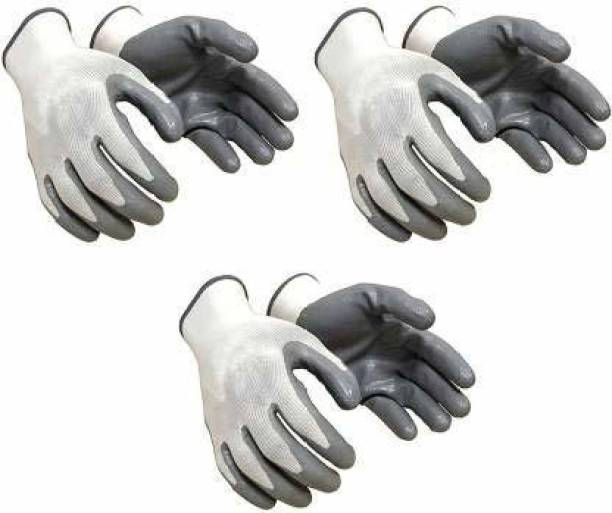 Eopzo Anti Cut Hand Gloves pvc cotted 3 pair Gardening Shoulder Glove