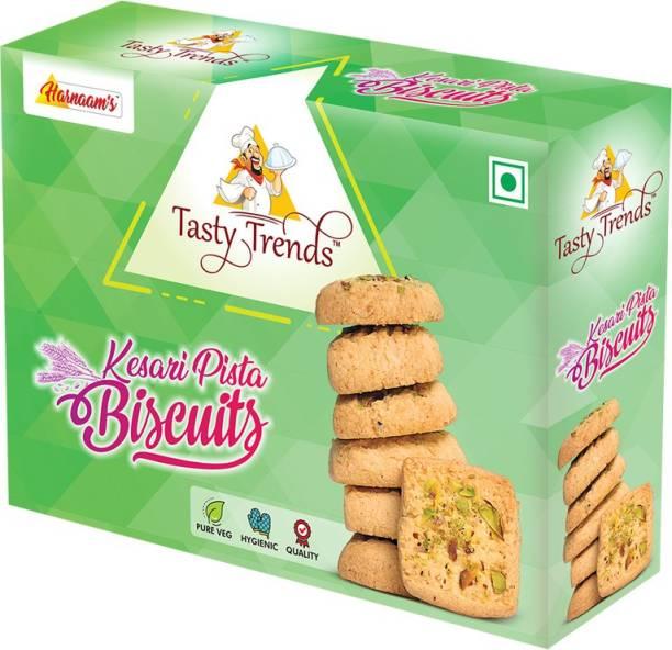 tasty trends Kesari Pista Biscuits Biscotti