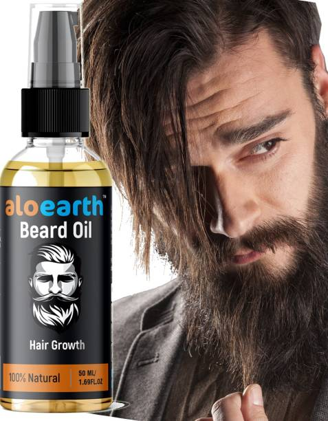 Aloearth Beard Growth Oil, Mooch Oil for strong and healthy beard growth Hair Oil