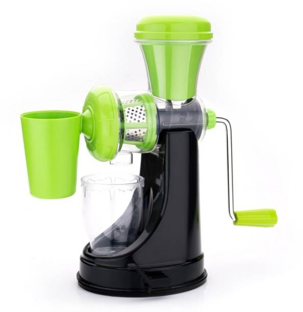 STUNNER Plastic Hand Juicer ENTERPRISE Plastic Hand Juicer Manual Juicer For Fruit And Vegetable With Waste Collector And Stainless Steel Handle (Green, Black)