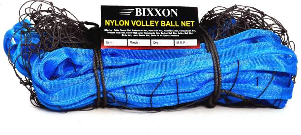 Bixxon Gold Quality Volleyball Nets 4 Side PP Tap Pack of 1 Black & Blu Volleyball Net