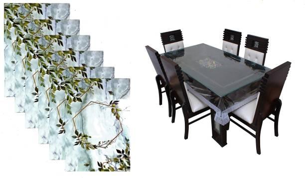 SHREE GIRRAJ DECORS(SGD) Multicolor PVC Table Linen Set