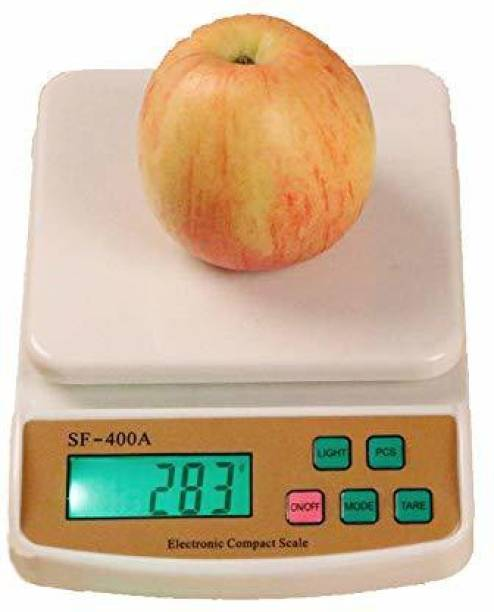 XQZG Electronic Digital 1Gram-10 Kg Weight Scale Lcd Kitchen Weight Scale Machine Measure for measuring fruits,shop,Food,Vegetable,vajan,offer,kata,weight machine Weighing Scale for grocery,kata,taraju,shop,computer kata,tarazu,jewellery,sabzi, Weighing scale (White) Weighing Scale